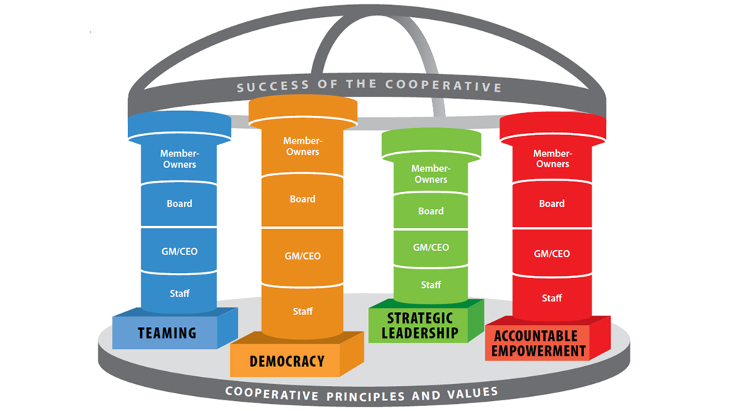 Four pillars of cooperative governance