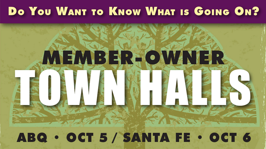 Member-Owner Town Halls, Oct 5 and 6